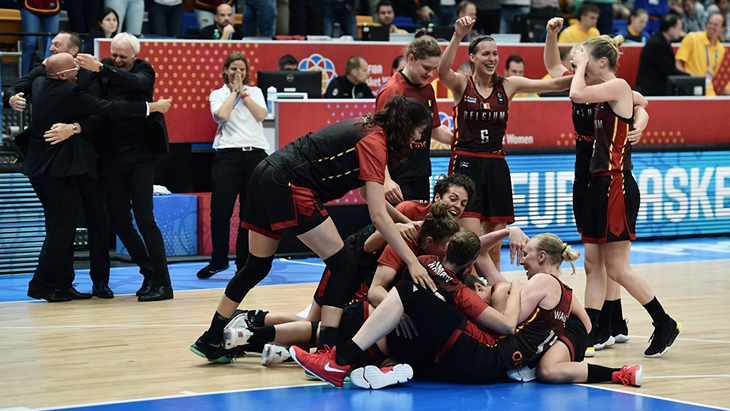 Баскетболистки сборной Бельгии