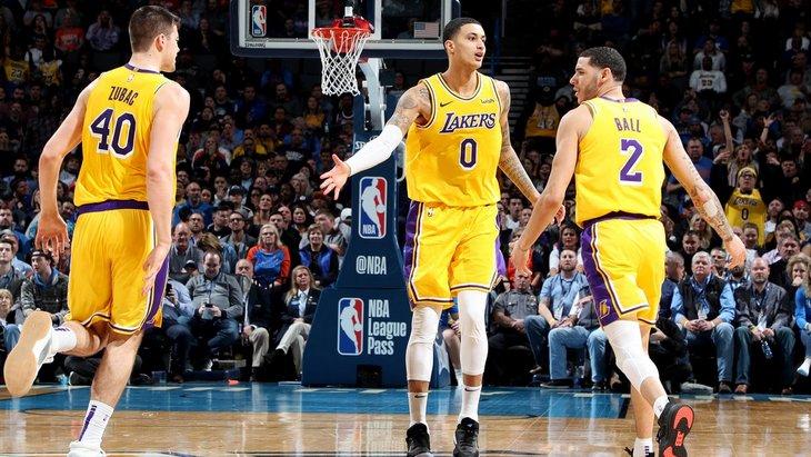 Баскетболисты «Лейкерс»