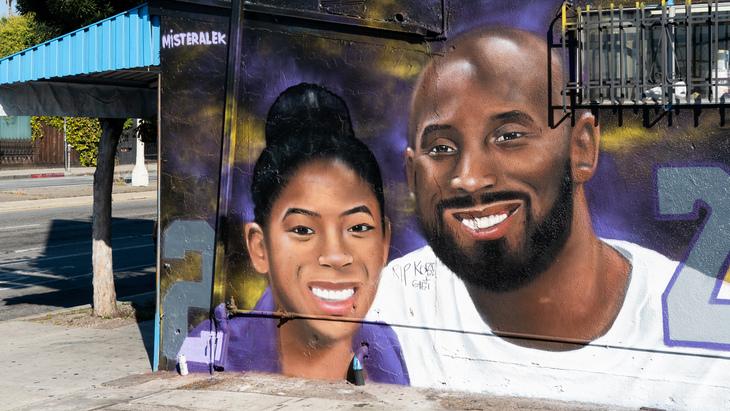 Граффити Коби Брайанта с дочерью