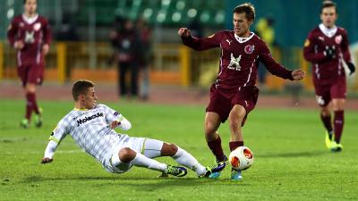 фрагмент матча «Рубин» — «Зюльте-Варегем»