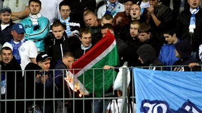 Болельщики «Зенита» спалили флаг Чечни
