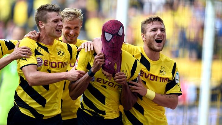 Футболисты «Боруссии» в победном матче за Суперкубок Германии