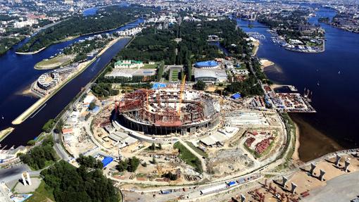 Строительство «Зенит Арены»