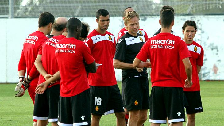 Валерий Карпин и игроки «Мальорки»