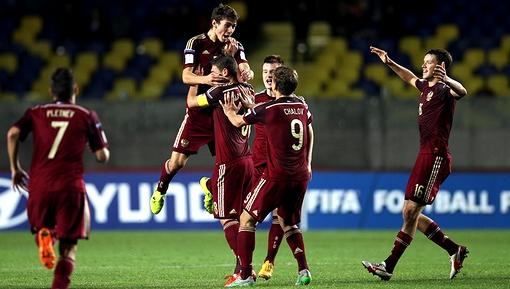 Сборная России впервые в своей истории вышла в плей-офф с первого места в группе чемпионата мира U-17