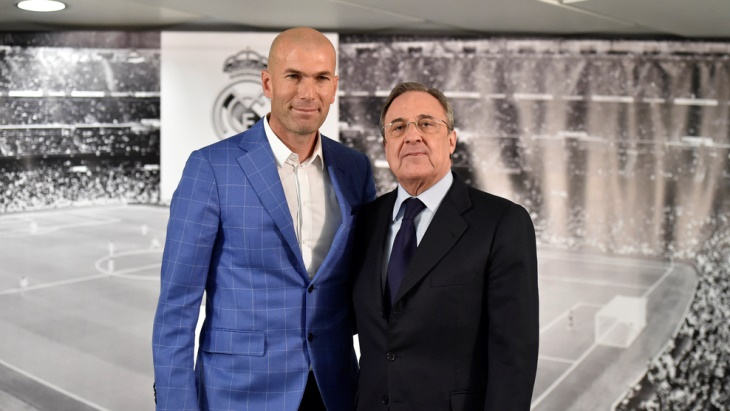 Зинедин Зидан — 11-й тренер «Реала» при президентстве Флорентино Переса