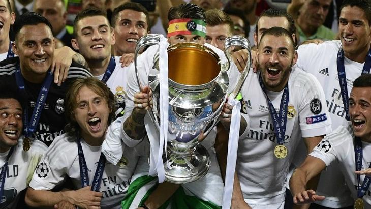 Реал мадрид празднует чемпионство