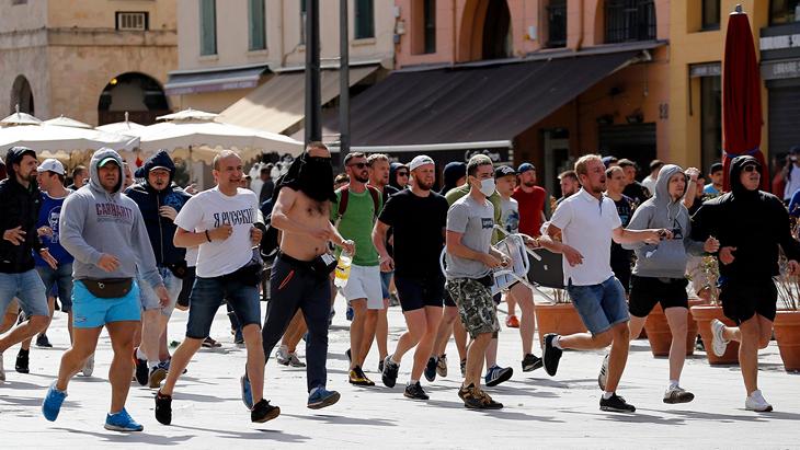 Российские фанаты в Марселе