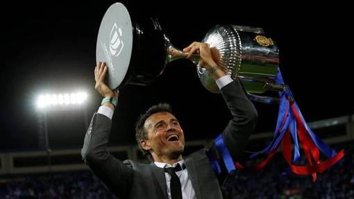 Луис Энрике вошел в тройку лучших наставников «Барселоны»