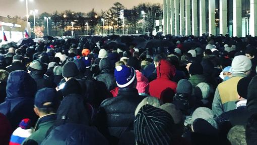 Толпа в «Лужниках»