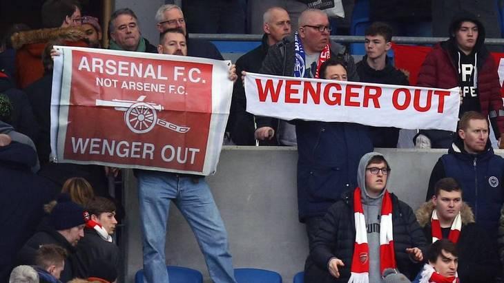 Болельщики «Арсенала» теряют остатки веры в Венгера