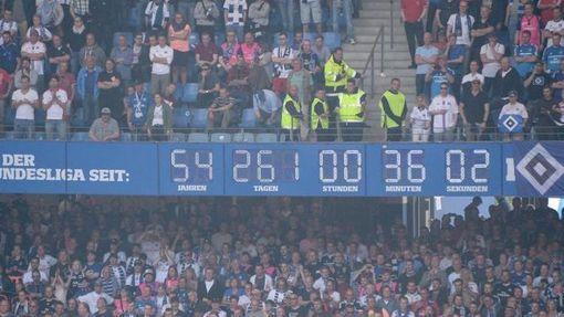 Знаменитые часы на стадионе «Гамбурга»