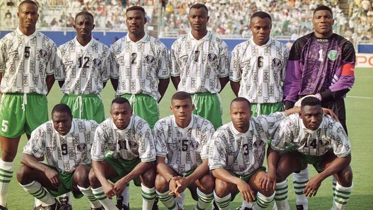 Сборная Нигерии на дебютном для себя ЧМ-1994
