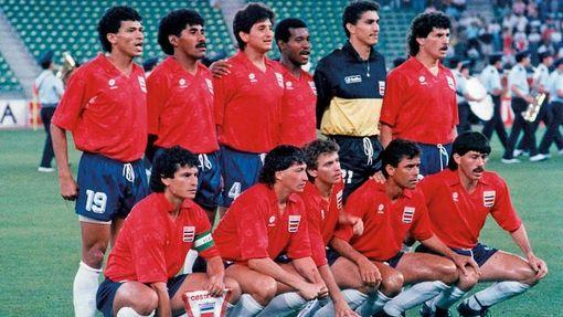 Сборная Коста-Рики на дебютном ЧМ-1990 в Италии