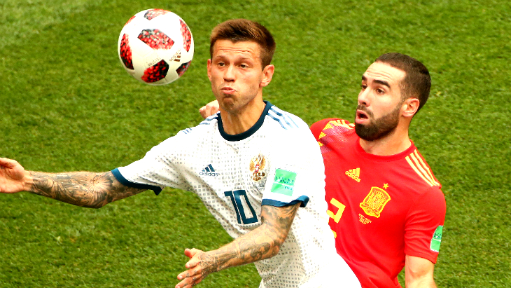 Футбол. испания чили. процент владения мя