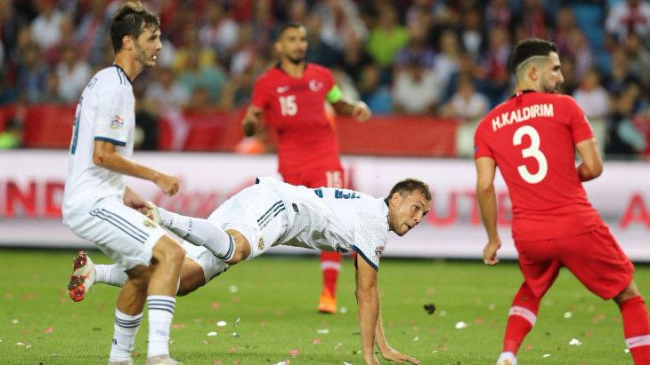 Россия обыграла Турцию в дебютном матче Лиги наций