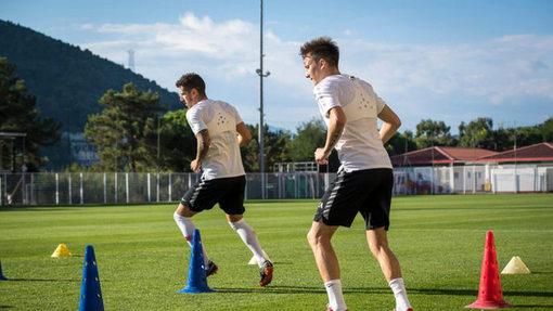 Александр Головин на тренировке «Монако»