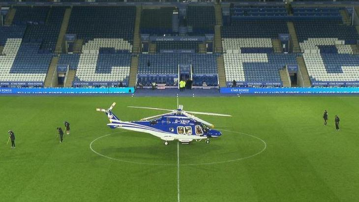 Вертолет незадолго до взлета