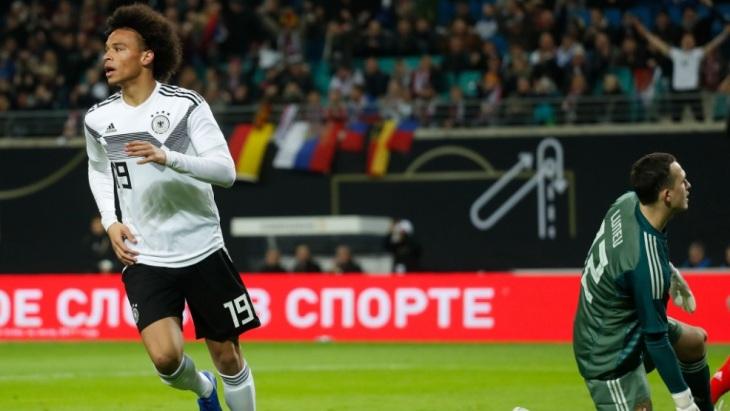 Немцы забили три гола в первом тайме