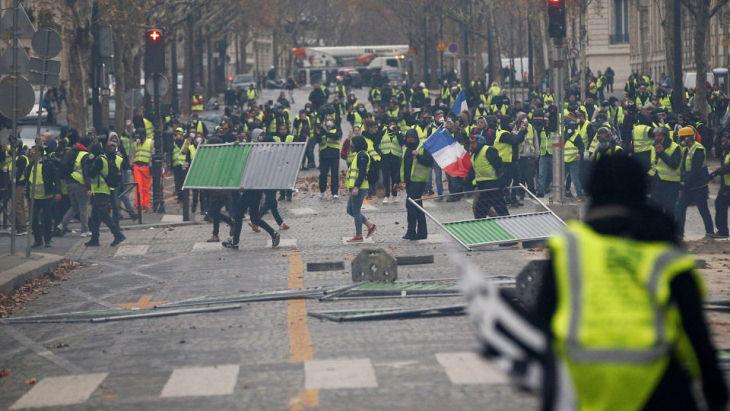 Матч ПСЖ против «Монпелье» перенесен из-за беспорядков в Париже