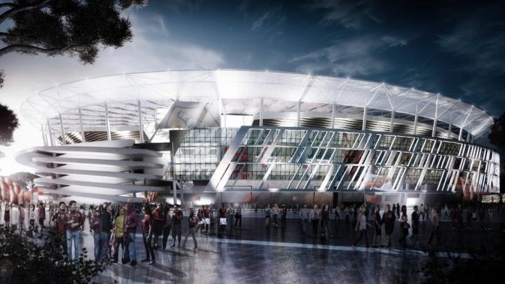 Вид новой арены «Ромы»