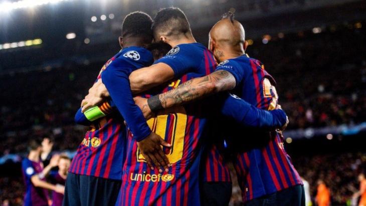 Каталонцы забили пять мячей «Лиону»