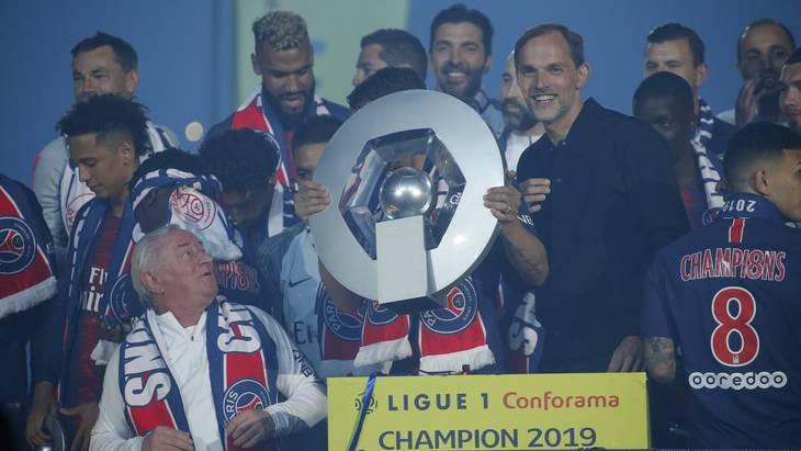 «Пари Сен-Жермен» отмечает чемпионство