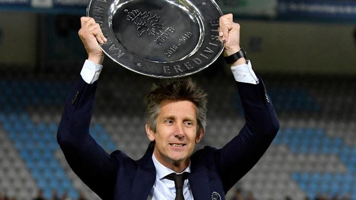 Ван дер Сар с трофеем «Аякса»