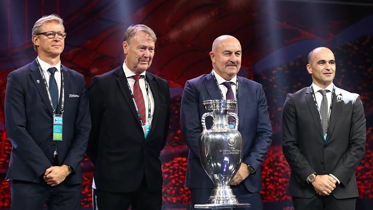 Главные тренеры сборных Дании, Финляндии, России и Бельгии