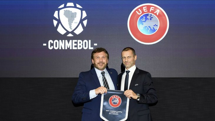 Главы УЕФА и КОНМЕБОЛ