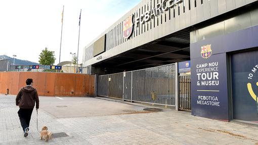Закрытый проход в музей «Барселоны» у «Камп Ноу»