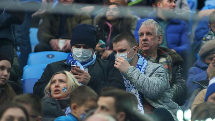 Фанаты на матче «Зенита»