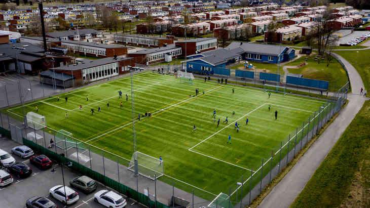 Тренировочное поле в Швеции
