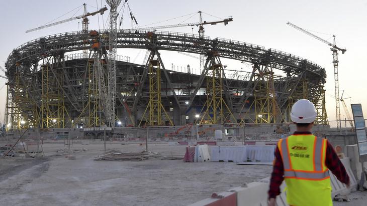 Строительство стадиона в Катаре