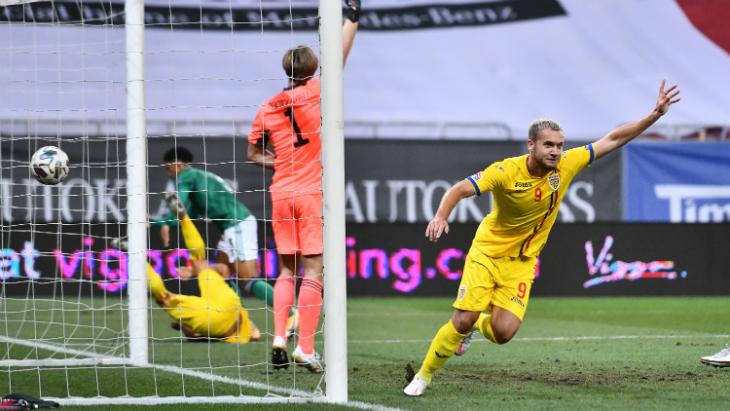 Фрагмент матча Румыния — Северная Ирландия