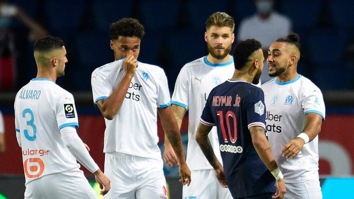Неймар весь матч конфликтовал с игроками «Марселя»