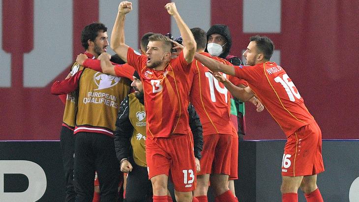 Футболисты Северной Македонии