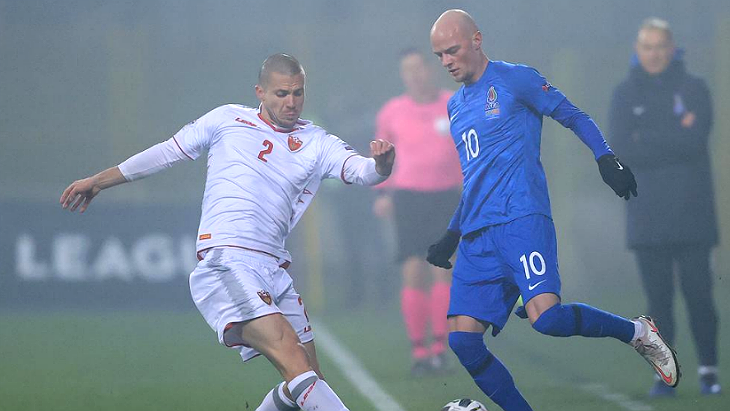 Фрагмент матча Азербайджан — Черногория