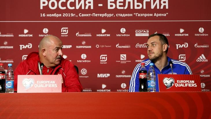 Станислав Черчесов и Артем Дзюба