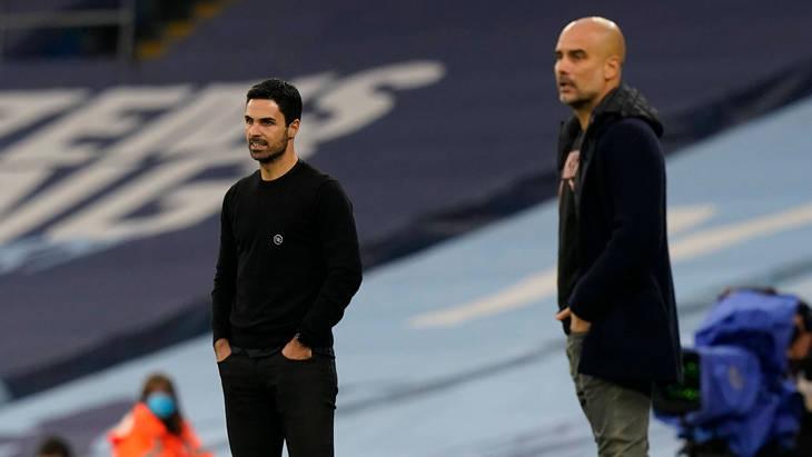 Микель Артета и Хосеп Гвардиола