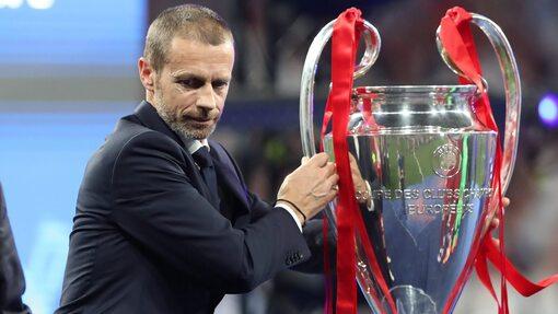 Александер Чеферин с трофеем Лиги чемпионов