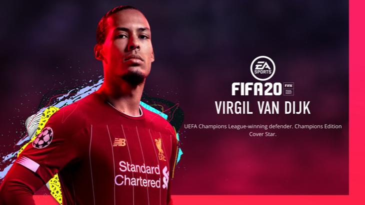 Ван Дейк на обложке FIFA 20