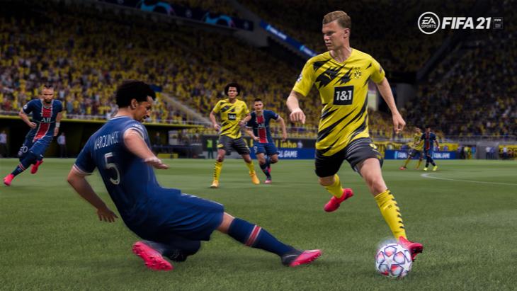 Кадры из трейлера FIFA 21