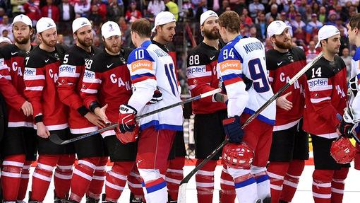 Всего шесть игроков сборной России остались на церемонию награждения канадцев