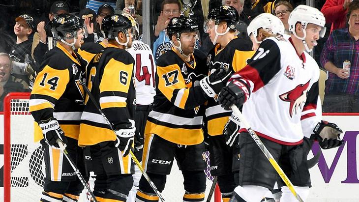Радость хоккеистов «Питтсбурга»