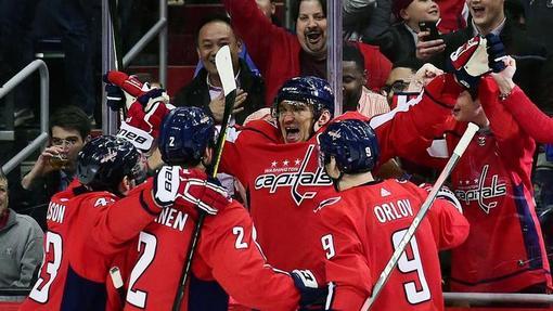 Радость хоккеистов «Вашингтона»