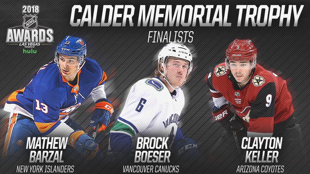 Барзал, Бозер и Келлер — претенденты на приз лучшему новичку НХЛ