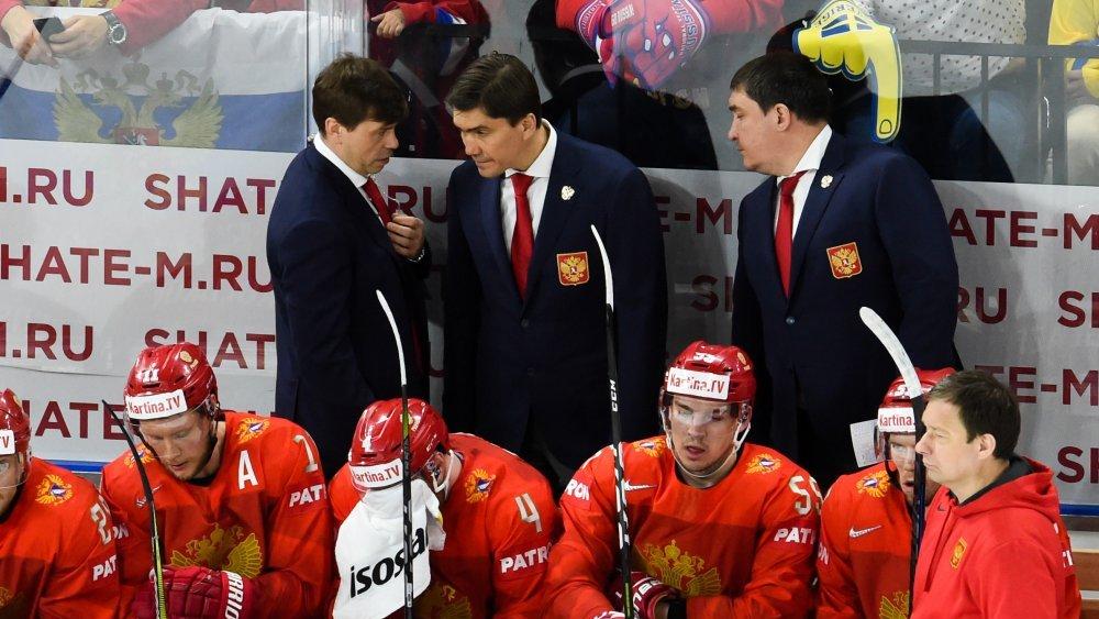 Россияне провели утреннюю раскатку перед четвертьфинальной игрой чемпионата мира