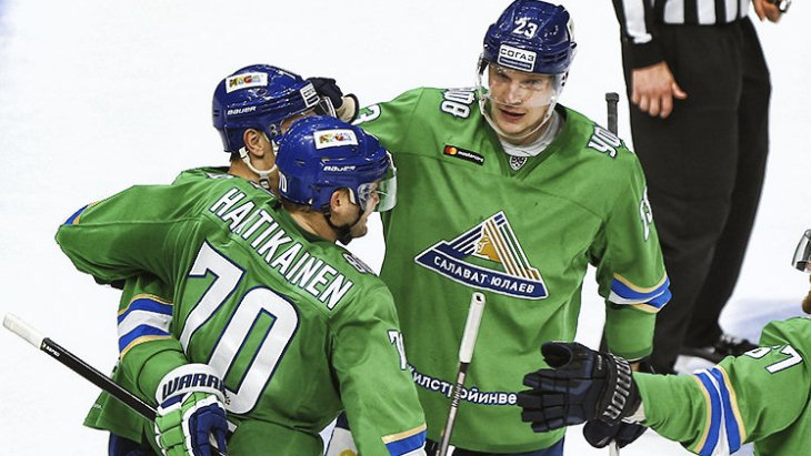 Хоккеисты «Салават Юлаев»