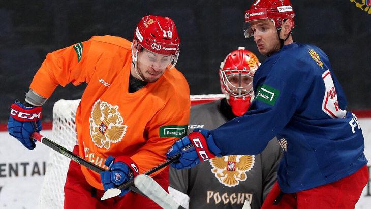 Назван состав звеньев сборной России на матч с Финляндией